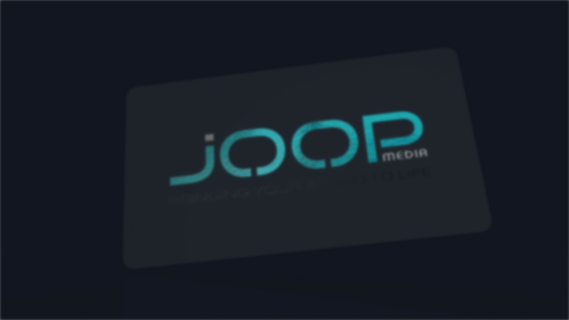 Joop Media Business Card 3D Visualisation